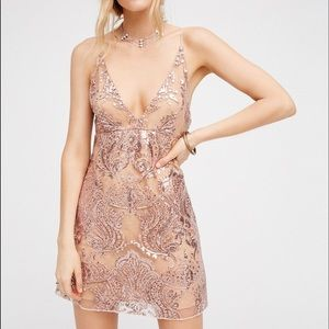 Free people night shimmering mini dress Size 0 new